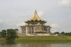 Énoncez le bâtiment d'Assemblée législative, Kuching, Malaisie Photo stock