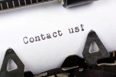 Éntrenos en contacto con Fotografía de archivo libre de regalías