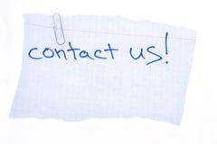 Éntrenos en contacto con Imagen de archivo libre de regalías