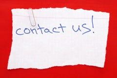 Éntrenos en contacto con Fotografía de archivo