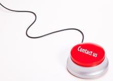 Éntrenos en contacto con botón Imágenes de archivo libres de regalías