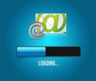 éntrenos en contacto con ejemplo de la barra de cargamento del correo del globo Imágenes de archivo libres de regalías