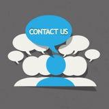 Éntrenos en contacto con equipo del negocio Stock de ilustración