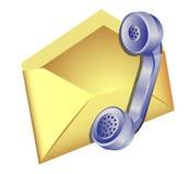 Éntrenos en contacto con icono Imágenes de archivo libres de regalías