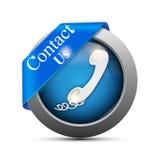 Éntrenos en contacto con icono Imagen de archivo