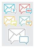 Éntrenos en contacto con icono Fotos de archivo