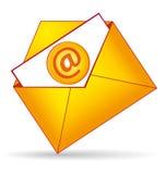 Éntrenos en contacto con icono de la carpeta. Imagen de archivo libre de regalías