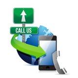 Éntrenos en contacto con, llame o envíelos Fotografía de archivo