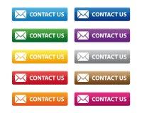 Éntrenos en contacto con los botones Imagen de archivo libre de regalías