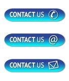 Éntrenos en contacto con los botones stock de ilustración