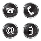 Éntrenos en contacto con los botones libre illustration