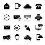 Éntrenos en contacto con los iconos fijados Imagen de archivo