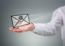 Éntrenos en contacto con por el email Fotografía de archivo libre de regalías