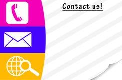Éntrenos en contacto con tarjeta fotografía de archivo