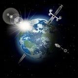 Épée dans la terre Image stock