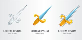 Épée de logo Photo libre de droits