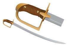 Épée de sabre de Cavlary Photo libre de droits
