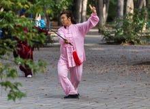 Épée de Tai Chi de matin Photos stock
