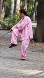 Épée de Tai Chi de matin Images libres de droits