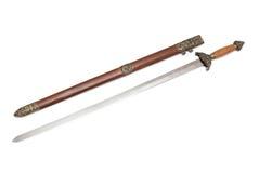 Épée droite Jjian Images libres de droits