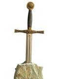 épée en pierre Images stock