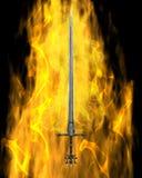 Épée flamboyante Image stock