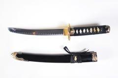 Épée japonaise avec une gaine Photo libre de droits