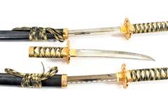 Épée japonaise de katana de samouraï Images libres de droits