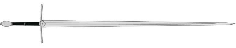 Épée médiévale de soldats illustration stock