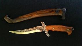 Épée traditionnelle indonésienne, keris Photographie stock libre de droits