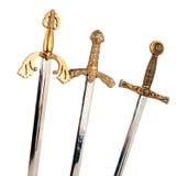 Épées d'isolement Images stock