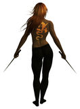 Épées de fixation de femme Images libres de droits