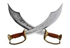 Épées de pirate Images libres de droits