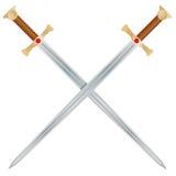Épées de vecteur Photographie stock libre de droits
