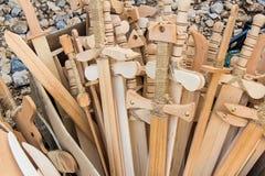Épées en bois de jouet Photo libre de droits