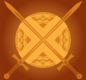 Épées ensoleillées Images stock