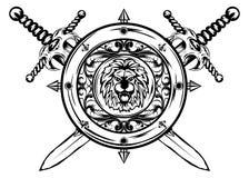 Épées et bouclier Images stock
