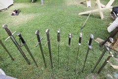 Épées médiévales antiques Photographie stock libre de droits