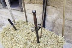 Épées médiévales antiques Image stock