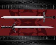 Épées magiques Images libres de droits