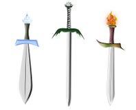 épées trois Photos stock