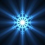 Épanouissement bleu de flocon de neige de Noël Photographie stock libre de droits