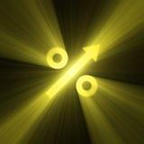 Épanouissement de lumière de flèche de signe d'augmentation de pour cent illustration de vecteur