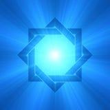 Épanouissement de lumière de symbole d'étoile dirigé par huit illustration de vecteur