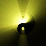 Épanouissement de lumière du soleil de symbole de Yin Yang illustration de vecteur