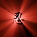 Épanouissement de lumière rouge de caractère de Ren illustration libre de droits
