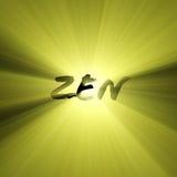 Épanouissements de lumière du soleil de lettres de zen illustration libre de droits