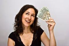 Épargnant d'argent Images libres de droits