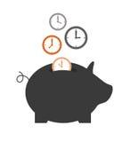 Épargnez le temps illustration stock
