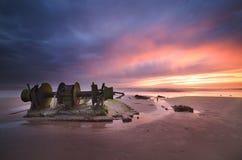 Épave au Maroc Photographie stock libre de droits